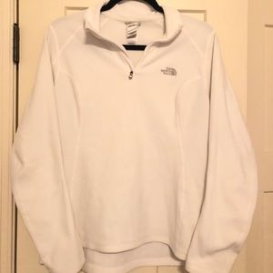 Women's white Northface fleece pullover